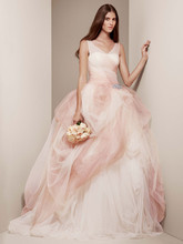 White by Vera Wang Style VW351157  <br /> Ombre Tulle Ball Gown with Pick Up Skirt