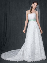 David&#39;s Bridal Collection Style CT2406  <br /> Allover beaded corded lace A-line gown
