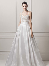 Oleg Cassini Style CPK626  Strapless Organza Ball Gown with Lazer Cut Design