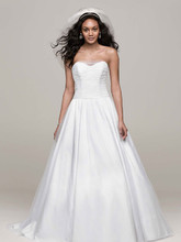 David's Bridal Collection Style MK3673  Strapless Tulle Ball Gown with Corset Back