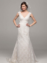 David's Bridal Collection Style T9612  Allover beaded lace trumpet gown