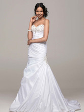 David's Bridal Collection Style V3476  Strapless Sweetheart Fit and Flare Wedding Gown
