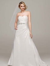 David's Bridal Collection Style WG3243  Taffeta A Line Gown with Sweetheart Neckline