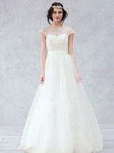 Galina Style KP3657  Cap Sleeve Gown with Scalloped Detail Bodice
