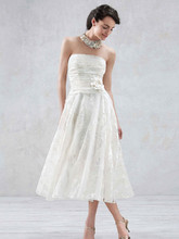 Galina Style WG3313  Short Printed Organza Gown with Floral Sash