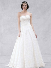 Galina Style WG3512  Lace Ball Gown with Intricate Embroidered Details