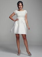 DB Studio Style 061889680  Short Cap Sleeve Taffeta Dress with Sequin Bodice