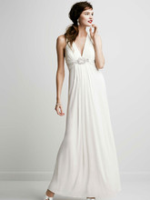 DB Studio Style XS4226  Long Jersey Gown with Beaded Knot Detail