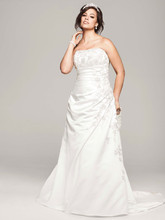 DB Woman Style 9V9665  A-line Side Drape Strapless Gown Style 9V9665