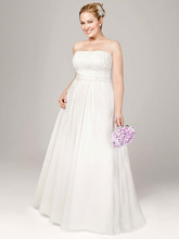 DB Woman Style 9V9743  Chiffon Soft A-line with Beaded Lace on Empire