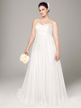 DB Woman Style 9WG3438  Dot Tulle Empire Waist Soft Wedding Gown