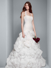 White by Vera Wang Style VW351172  Fit and Flare Gown with Sequin and Tulle Flanges