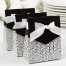Tent Favor Boxes: These charming white tent favor boxes measure 3