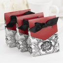 Floral Tent Favor Boxes: These beautiful white tent favor boxes measure 3