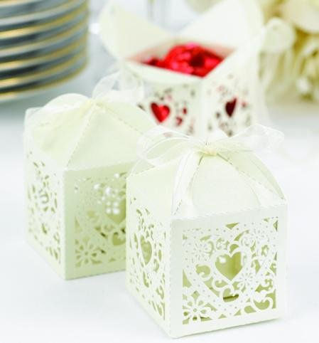 Ivory Wedding Favor Boxes on Vintage Ivory Favor Boxes Ribbon Wedding Favors Photos   Pictures