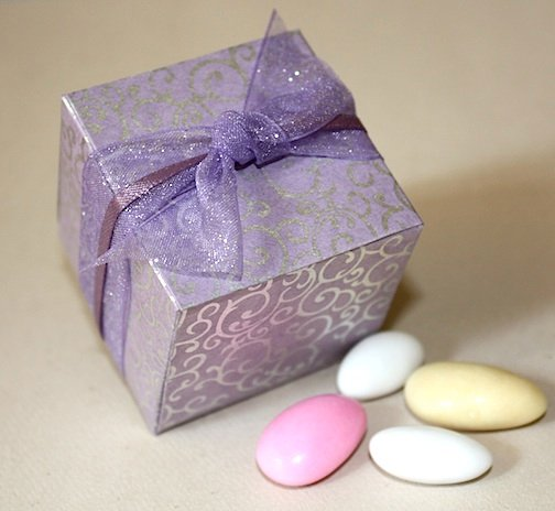 Modern Purple Silver Favor Boxes Spring Wedding Favors Photos Amp Pictures