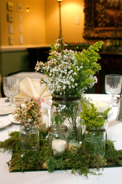 Rustic Centerpiece Centerpieces Garden Wedding Reception