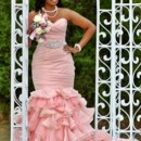 130x130 sq 1414689241400 pink bottom ruffle maggie sottero wedding dress