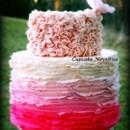 130x130 sq 1365172067734 cupcake novelties wedding cake ruffles pink ombre
