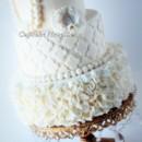 130x130 sq 1389484575510 vintage ivory ruffles quatrefoil pearls wedding c