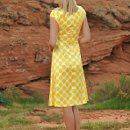 Zoe Dress in Yellow Dots