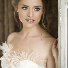 220x220 sq 1429927892776 natural glowing bridal makeup and romantic updo by