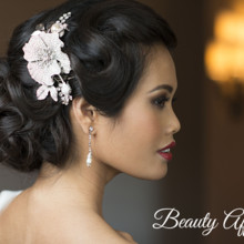 220x220 sq 1429931557582 fancy sleek updo asian vietnamiese bridal makeup r