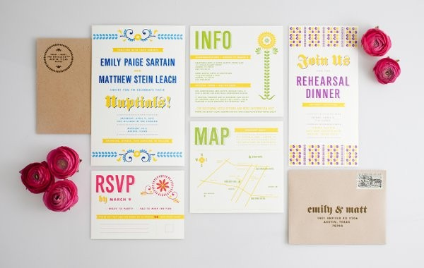 Colorful Wedding Invitation Sets, Wedding Invitations Photos by The Creative Parasol - Image 1 ...