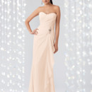 Couture Collection 1822 Shown in Ice Pink…Draped Chiffon gown with softened sweetheart neckline and beaded accent. Removable spaghetti straps included.