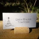 Wine Cork Place Card Holder with Starlite Tree Place Card on our Eco Banana paper.