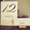Wine Cork Place Card Holders made in house! Featuring Old World Charme design.