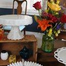 130x130 sq 1328924677229 milkglassdesserttablewithbrightflowers