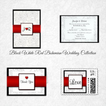 220x220 sq 1450369109658 black white red bohemian wedding collection