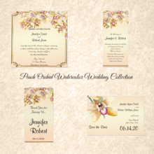 220x220 sq 1450369151636 peach orchid watercolor wedding collection