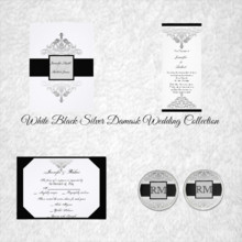220x220 sq 1450369178142 white black silver damask wedding collection