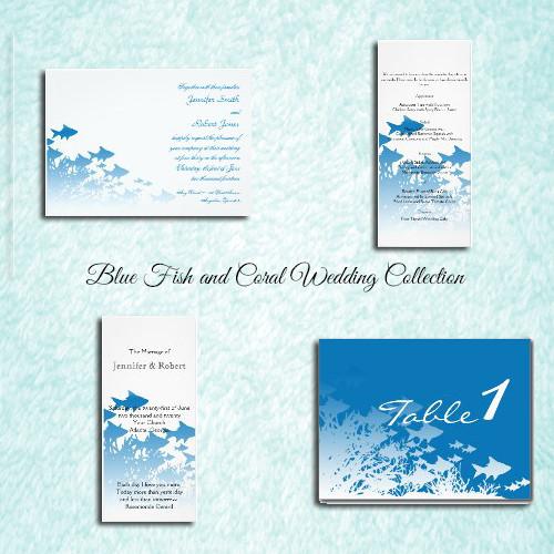 Beach Informal NauticalPreppy Blue Announcement Cards Ceremony – Destination Wedding Thank You Cards