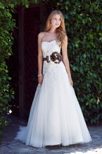Kenneth Winston Style # 1498 Beaded bodice with an alluring belt (available in different colors) and full skirt.
