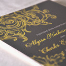 130x130 sq 1415145596483 gray yellow wedding invitations
