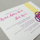 130x130 sq 1430511977449 purple yellow modern wedding invitations