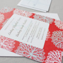 130x130 sq 1430512724726 red aqua floral modern wedding invitations