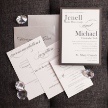 220x220 sq 1485361081151 charcoal and white wedding invitations