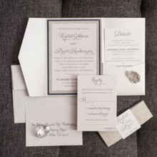 220x220 sq 1485361147643 silver and navy bling wedding invitations