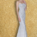 ISHTAR  This stunning fit and flare, French Chantilly Lace gown lined in the most luxurious Silk Charmuese features a square neckline and back and is encrusted with fine beadwork!
