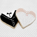 130x130 sq 1426190945767 bride  groom heart cookies
