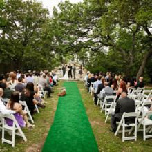 220x220 sq 1464192906531 ceremony set up outside white chairs