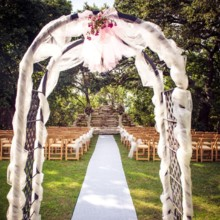 220x220 sq 1508866697835 decorated arch ceremony on lawn cropped
