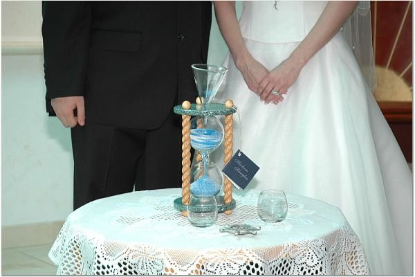 photo 14 of Heirloom Hourglass Wedding Unity Sand Ceremony
