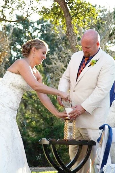 photo 22 of Heirloom Hourglass Wedding Unity Sand Ceremony
