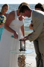 photo 27 of Heirloom Hourglass Wedding Unity Sand Ceremony