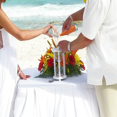 photo 32 of Heirloom Hourglass Wedding Unity Sand Ceremony
